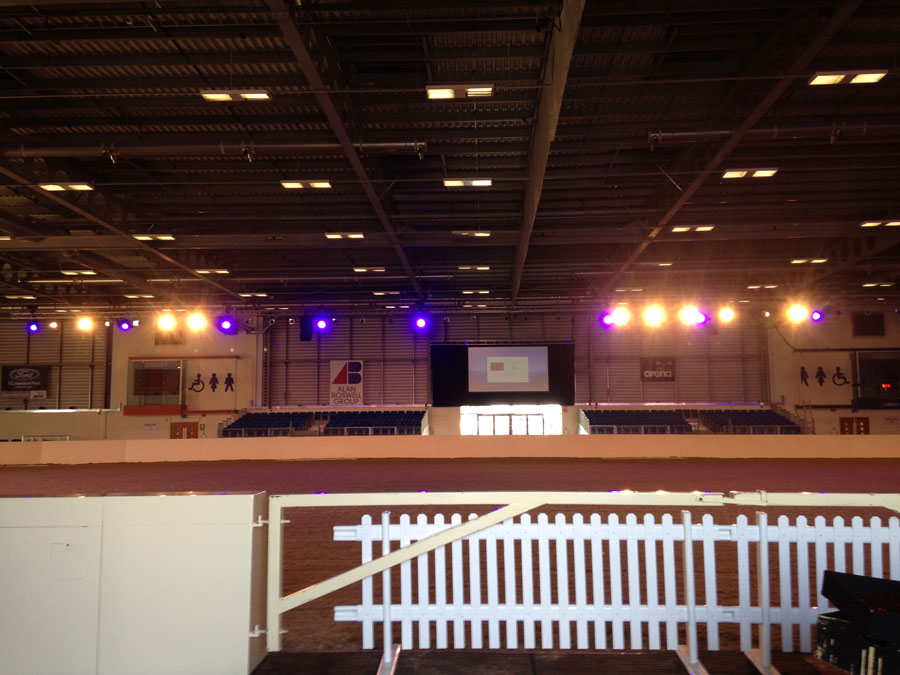 Equifest – Sound, lighting, projection and trussing for the main performance arena