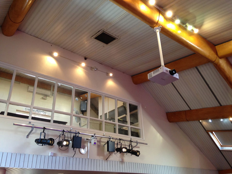 Lighting – Stage lighting, camera and projection installation