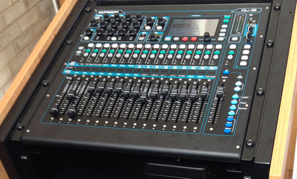 Mixing desk – A rack mounted 16 channel mixing desk, feature filled and easy to use