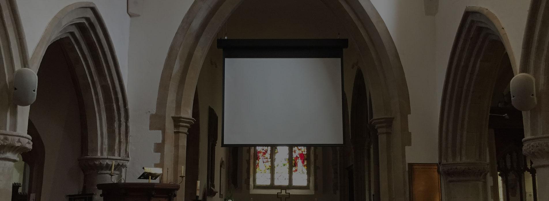 Speaker and Screen Installation