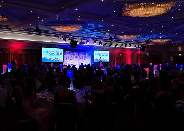 Corporate awards – Sound, Lighting, staging and projection for corporate awards evening