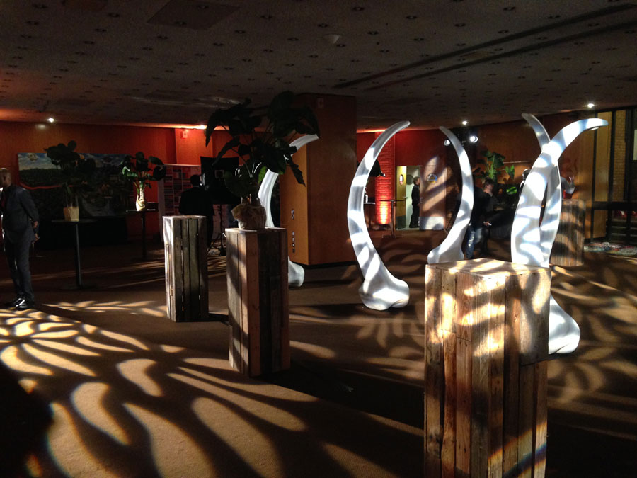 Atmospheric Lighting – Gobo breakup and uplighting to add atmosphere to a reception
