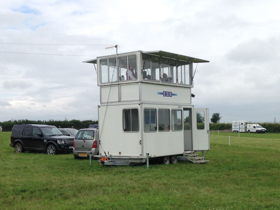 Commentary Boxes | Two Tier – In use as a control position at a British Eventing weekend