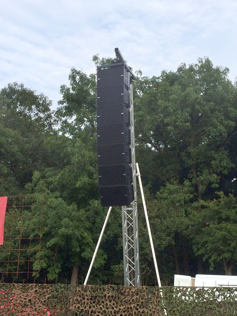 Live Events | Line Array – Db Technologies DVA line array and subwoofers
