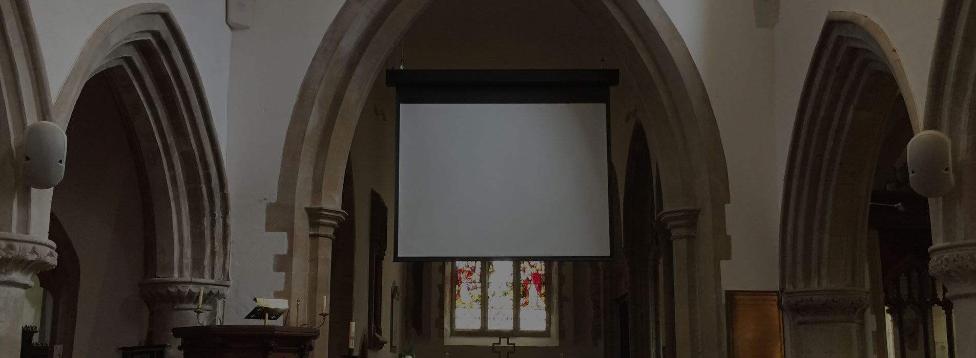 Speaker and Screen Installation