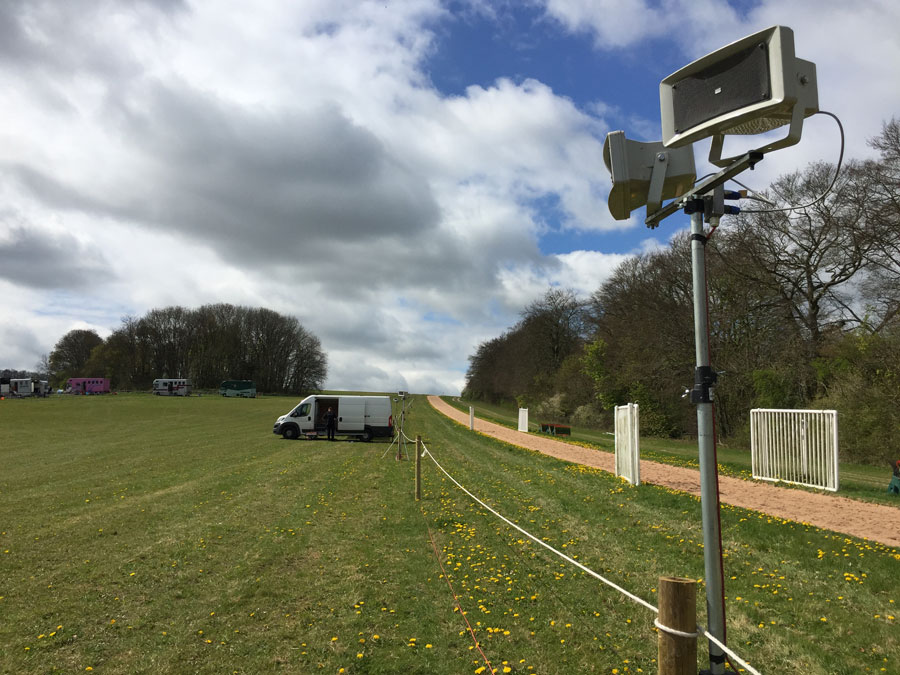 Hire | Commentary PA system along a fence line